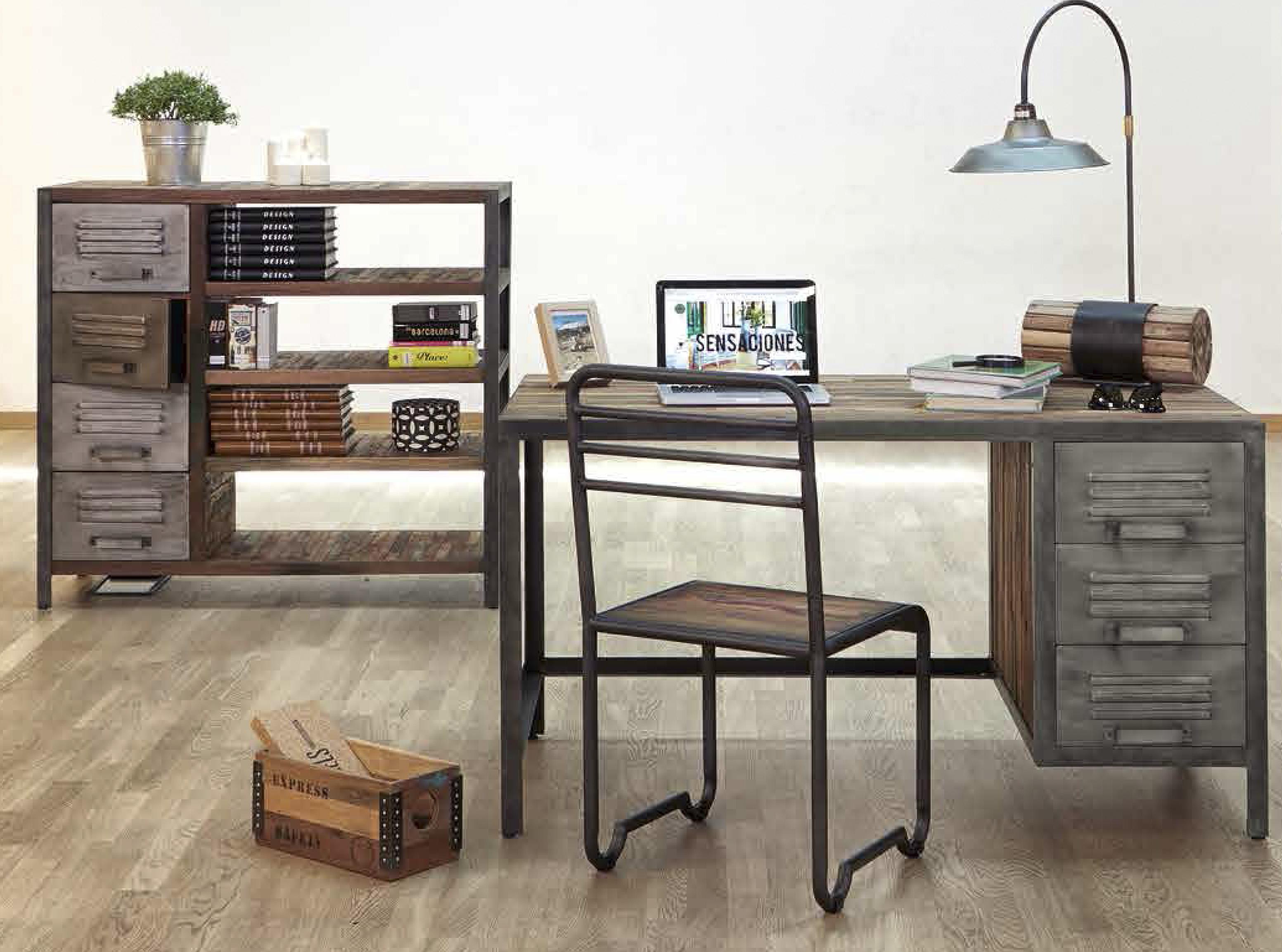 S tano5 mesa de estudio s tano5 for Despacho estilo industrial
